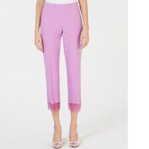 Alfani Cropped Lace Hem Pants